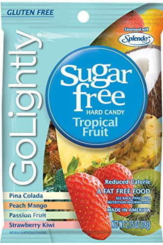 Go Lightly Tropical Fruit Sugar Free Hard Candy, 2.75 Ounce (Pack of 12)