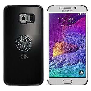 LECELL--Funda protectora / Cubierta / Piel For Samsung Galaxy S6 EDGE -- Fuego y Sangre Targaryen --