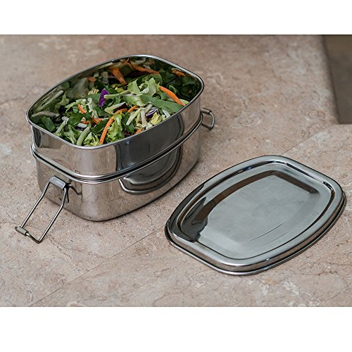 504b4235cbb4 Amazon.com: Qualways Stainless Steel Deluxe Lunch box, Food ...