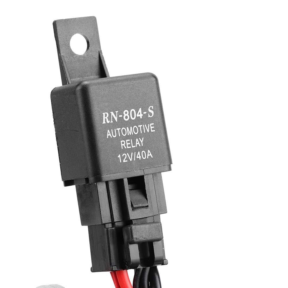 barra luminosa della barra luminosa da 200 cm Cablaggio della lampada a LED 40A Fusibile rel/è Interruttore on-off-strobo telecomando Cablaggio della barra luminosa a LED