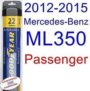 Goodyear Windshield Wipers >> Amazon.com: 2012-2015 Mercedes-Benz ML350 Wiper Blade ...