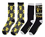 Game Of Thrones I Drink and Know Things 2 Pack Crew Adult Socks