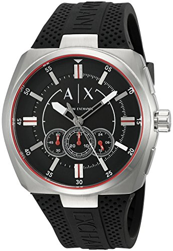 Armani Exchange Men's AX1804 Black Silicone - Armani Exchange Sale