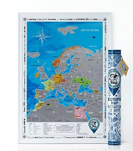 detailed laminated world map - 4
