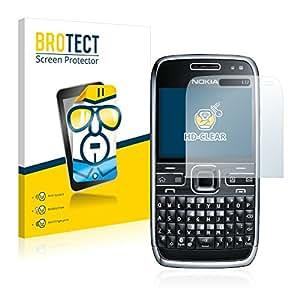 2x BROTECT HD-Clear Protector Pantalla Nokia E72 Película Protectora – Transparente, Anti-Huellas