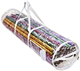 Clorso Wrapping Paper Storage Under Bed - Cylindrical Gift Wrap Organizer fits 40 & 42 Inch Gift Wrap Rolls - Capacity up to 35 Rolls - Extra Bonus Metal Hanging Hook