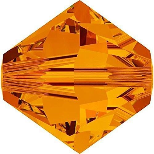 5328 Swarovski Crystal Bicone Beads Tangerine | 6mm - Pack of 20 | Small & Wholesale Packs | Free Delivery
