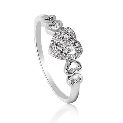 bague diamant en forme de coeur
