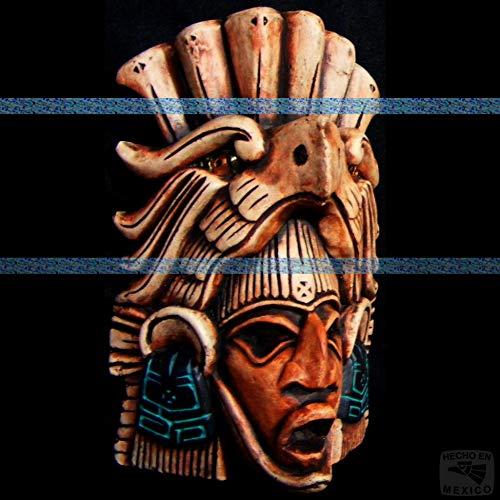 (Mayan Mask Head Maya Aztec Mexico Mexican Sculpture Pre-Columbian Mask Wall Art 080 )