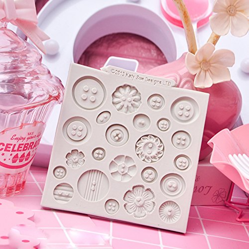 Toy Bear - Teddy Sitting Design Button Shape Silicone Mould for Cake Decorating Cupcakes Sugarcraft Candies Pack of 2 by Vivin (Image #3)