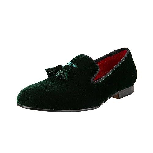 ac2a6eb4699 OCHENTA Men's Velvet Shoe British Style Loafers Slip on Flats with Velvet  Tassel Size US 4-14: Amazon.ca: Shoes & Handbags