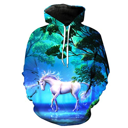 Unisexe Mode 3d 2469 Élégants Slim Blanc Animal Cheval Hoodies Nouveau Motif Impression 6Tqfg
