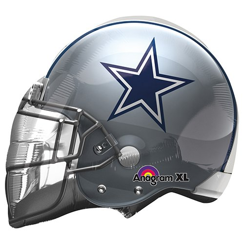 Anagram 26299 NFL Dallas Cowboys Football Helmet Foil Balloon, 21