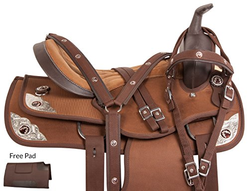texas-star-silver-western-pleasure-trail-show-horse-barrel-saddle-tack-set-comfy-16