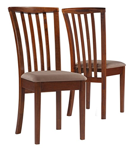 de Chairs with Upholstered Seat Light Brown and Amber (Set of 2) ()