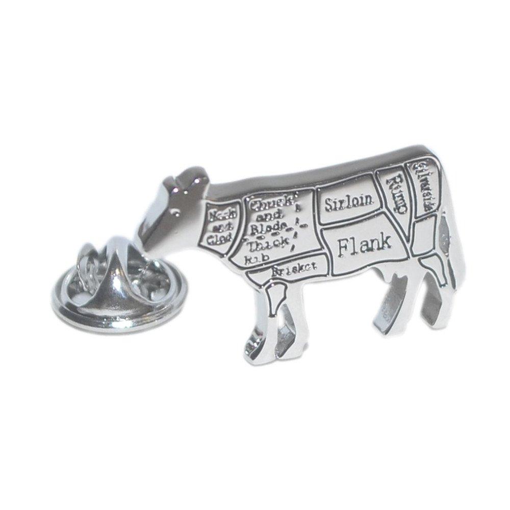 Carnicero cortes de carne de vaca Pin de solapa: Amazon.es: Joyería