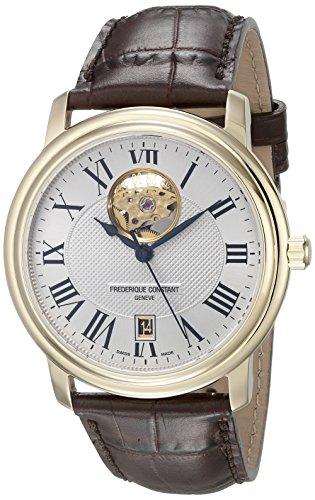 Frederique Constant Men s FC-315M4P5 Persuasion Heart Beat Silver Open Dial Watch