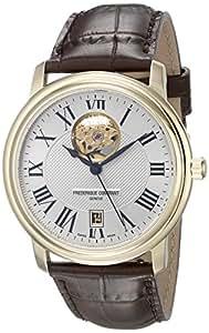 Frederique Constant Men's FC-315M4P5 Persuasion Heart Beat Silver Open Dial Watch