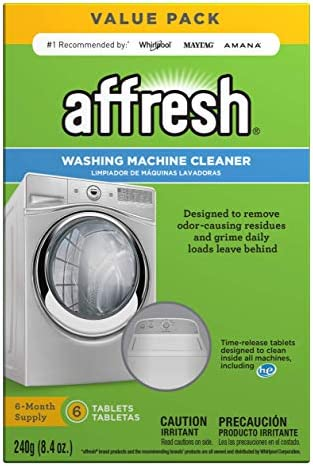 picture of Affresh W10501250 Washing Machine Cleaner, 6 Tablets: Cleans Front Load