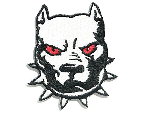 Pitbull Iron on Patch Embroidered Sewing for T-shirt, Hat, Jean ,Jacket, Backpacks, Clothing Ships and sold from Naree2016. only. Made in Thailand, Buy good quality item