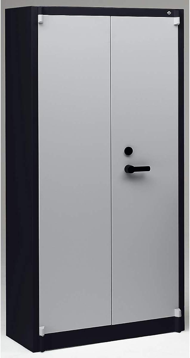 CP Acero Armario, feuergeschützt – 4 estantes ajustable – schwarzgrau/Lichtgrau – Armario Fuego Seguridad Seguridad ...