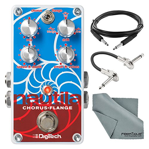 - DigiTech Nautila Stereo Chorus and Flanger Pedal with Accessory Bundle