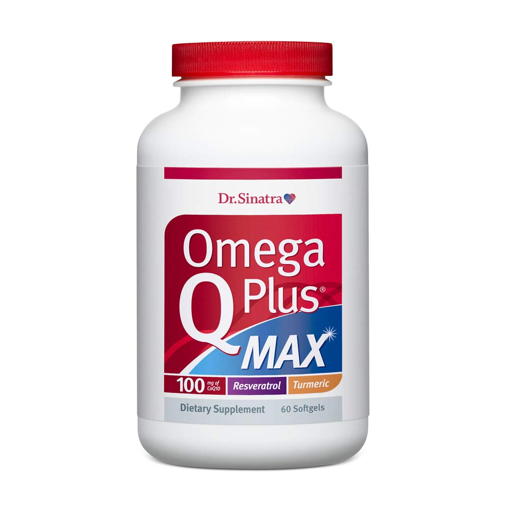 Dr. Sinatra's Omega Q Plus MAX - Advanced Heart Health and Healthy Aging Support for Healthy Cholesterol, Blood Pressure, Triglycerides, Blood Sugar, and More with 100mg of CoQ10 and Turmeric