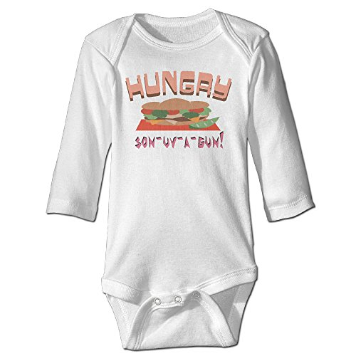 Infant Hungry Son-uv-a-Gun Hamburger Cute Baby Onesie Bodysuit (Hoover Jovis compare prices)