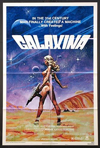 GALAXINA DOROTHY STRATTEN SCI-FI SEXY TANENBAUM ART 1980 ORIGINAL 27X41 ONE SHEET MOVIE POSTER