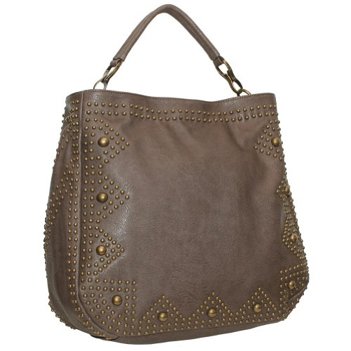 BIG BUDDHA Leora Tote,Grey,One Size, Bags Central