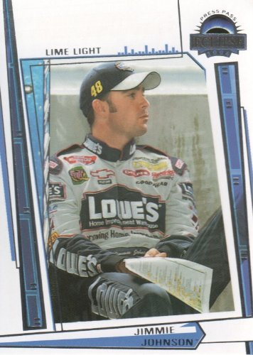 2004 Press Pass Eclipse NASCAR Racing #85 Jimmie Johnson Lime Light - Jimmie Johnson Light