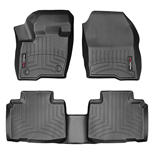 All Weather Weathertech FloorLiner Floor Mats for Ford Edge - 2015-2018 1st 2nd Row Black