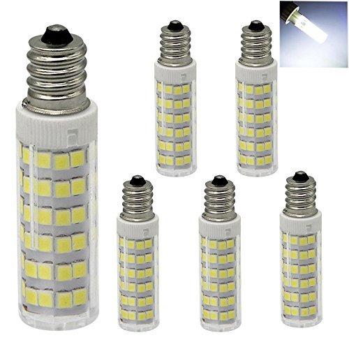 XYTGD E12 Led Bulb, 120V 6W Dimmable, 6000K Daylight White T3/T4 Candelabra E12 Base replaces 45-50 watt halogen bulb for Ceiling Fan, Chandelier, Indoor Decorative Lighting (Pack of 5)
