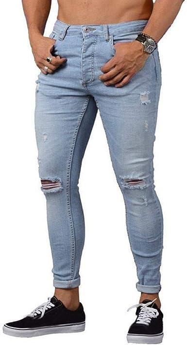 Vaqueros Mujer Elasticos Rectos Rotos Pantalones Push Up Jeans Largo Corto Pantalones De Mezclilla Elasticos Flacos Para Hombre Jeans Ajustados Desgastados Y Rasgados Hombres Azul 2xl Amazon Es Ropa Y Accesorios