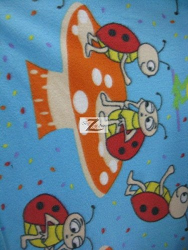 - FRIENDS LADY BUG PRINT POLAR FLEECE FABRIC 60