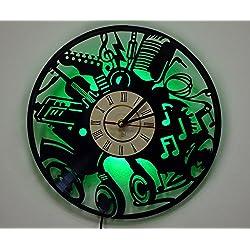LED Light, Wall Lamp, Night Light, Musical Instruments Wall Clock, Cool Living Room Wall Art Decor