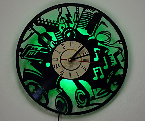 LED Light, Wall Lamp, Night Light, Musical Instruments Wall Clock, Cool Living Room Wall Art Decor