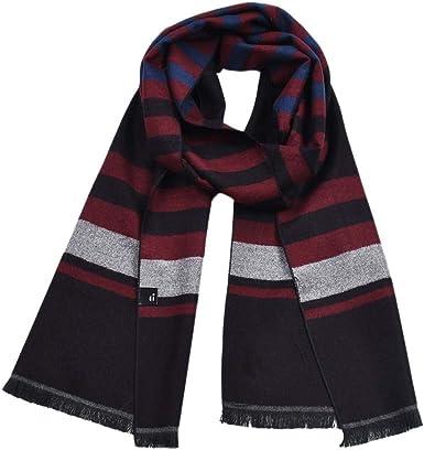Joyfeel buy Bufanda de algodón para hombre, bufanda de invierno clásica, color rojo vino y ceniza, ideal para regalos de San Valentín, 30 x 180 cm: Amazon.es: Ropa y accesorios