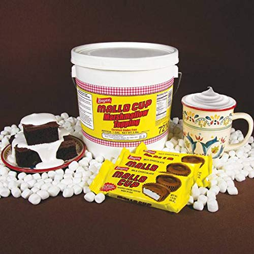 Boyer Marshmallow Topping Mallo Cup Candy, 5 Pound -- 2 per case. by Boyer Candy