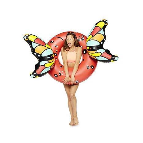 BigMouth Inc Flotador de Piscina de alas de Mariposa Gigante (Rojo)