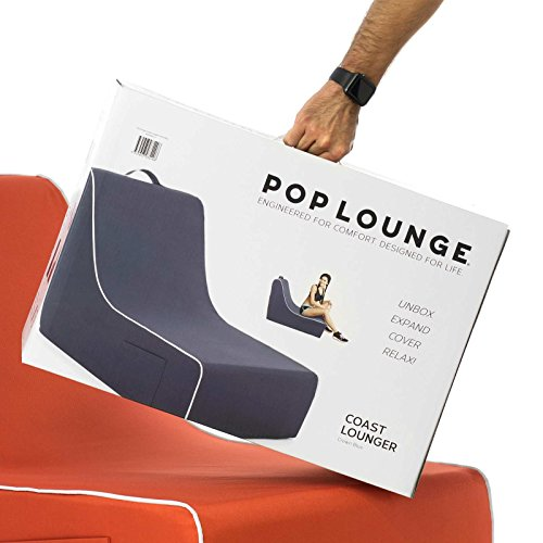 PopLounge Expandable Foam Furniture Coast Lounger, Crown Blue Navy, 23'' x 40'' x 26'' by PopLounge (Image #11)