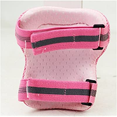 Mounchain Child's Pad Set with Knee Elbow Wrist Kids Protective Gear Sports Safety Pad Safe Guard Inline Roller Skating Biking Support Pad for Bicycling and Roller Skating in Pink S : Sports & Outdoors