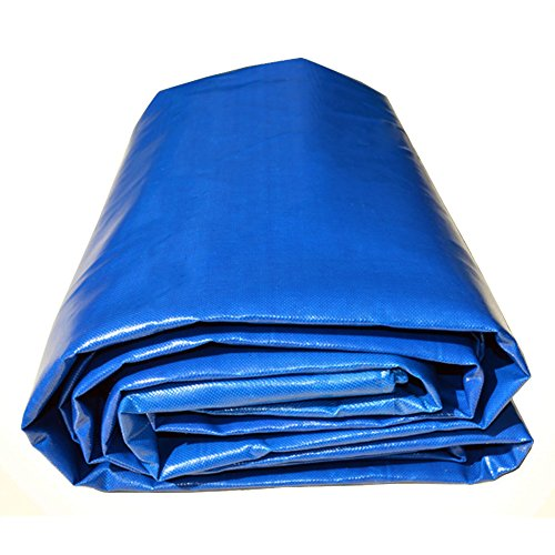 QIANGDA Tarpaulin Sheeting Heavy Duty Canopy PVC Waterproof Rain-proof Sunscreen Roof Shelter Floor Cover, 500g/m, Thickness 0.45mm, Multi-size Optional (Size : 6 x 5m)