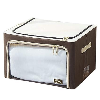 Cajas de almacenamiento de ropa plegables con soporte de marco de hierro, tela impermeable Oxford