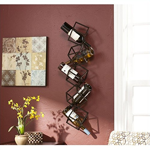 Holly & Martin Vallejo Wall Mount Wine Storage Unit (Wall Barn Rack Wine Pottery)