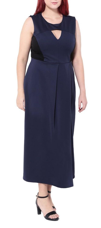 Bigood Plus Size Sexy Ohne Armel Sommer Damen Maxirock Maxikleid Party Kleid