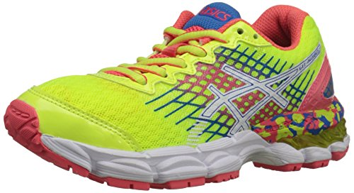 ASICS GEL Nimbus 17 GS Running Shoe ,Flash Yellow/Flash Pink
