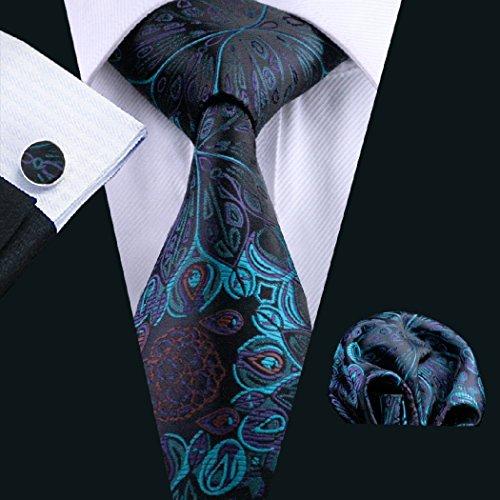Tie Hanky Floral Men's CAOFENVOO Set Cufflinks BqAHEYwt