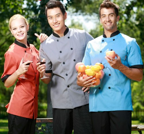 Amazon.com: Cheflife Colored Unisex Chef Uniforms Short Sleeve Coat: Home & Kitchen