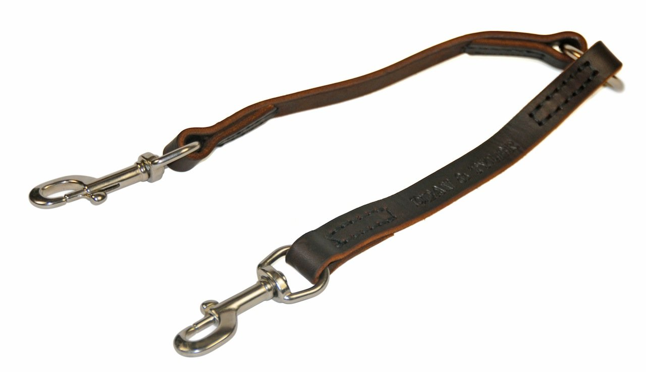 Dean & Tyler Split Personality Stainless Snap Leash, 2-Feet by 3 4-Inch, Brown